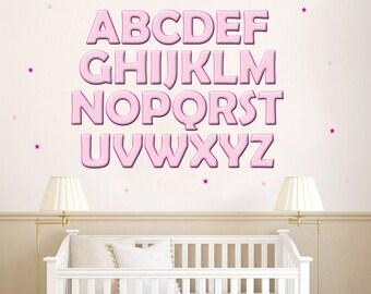 Alphabet Decals - Various Colours
