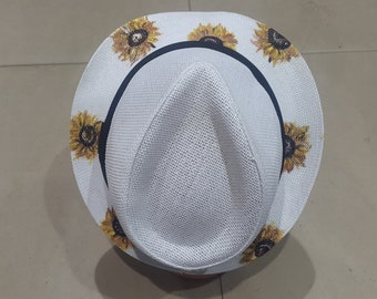 Hadmade linen panama hat