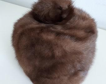 1950s Morgan's Fur Hat With Pom Pom
