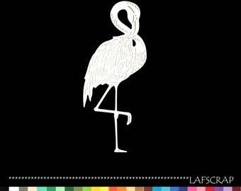 2 cut scrapbooking animal Flamingo cut paper embellishment die cut creation