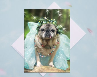 ENCOURAGEMENT CARD - Don't Ever Let Anyone Dull Your Sparkle - Pug Card Pugs and Kisses - 5x7