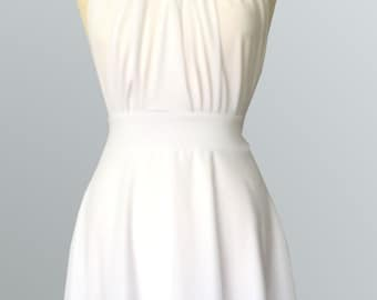 Tailored to Size & Length Infinity Dress two layers with chiffon in white color  WITH TUBE TOP  Convertible/Infinity Dress