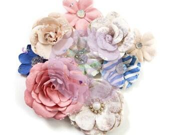 Prima Marketing Santorini Flower Embellishment In Style~ Fira New Release In Stock Ready To Ship