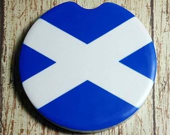 Scotland Flag Car Coaster Scottish Flag Car Coaster Cup Holder Coaster Gift Under 10 Home Decor Coaster