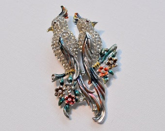 Coro duette pin, birds of paradise pin