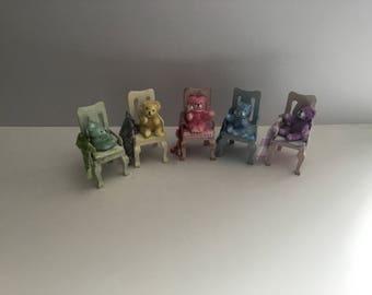 Ooak Miniature Dolls House 12th Scale Nursery Teddy Bear on Chair