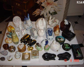 Collection of Rabbit and Hare Figurines