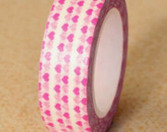 Pink Heart Washi Tape (2C-70)