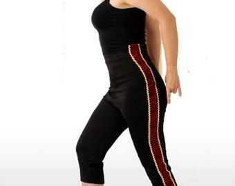 WOMENS MATADOR TROUSERS, Size L. Womens Crop pants, Flamenco Trousers, Bullfighter trousers, High waisted pants, womens Capri pants