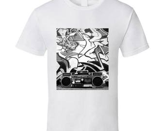 Hip Hip Ghetto Blaster Tshirt (all Styles And Colors Available)