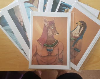 Anubis Greetings Card