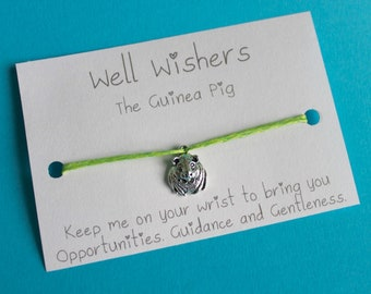 Guinea Pig Charm Bracelet-  Opportunities, Guidance and Gentleness | Friendship, Wish String, Wish Jewellery, Pet, Travel, BBF, Token Gift