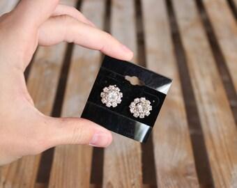 Bling Bling Circle Silver Earrings/Sparkle