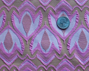 Vintage pink tulip patterned fabric