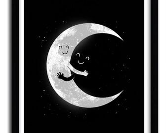 Affiche moon hug par Carbine
