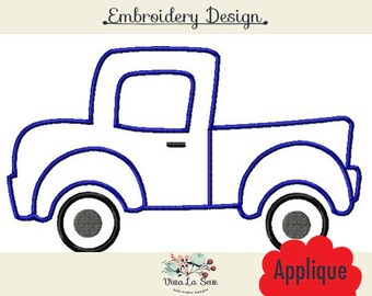 Pickup Truck Applique, Pick up Truck, Embroidery Design
