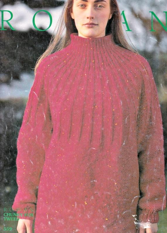 Ribbed Sweater Knitting Pattern Knit Sweater Pattern Womens