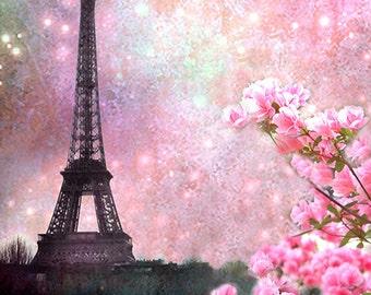 Paris Photography Eiffel Tower Pink Floral Paris Pink Spring