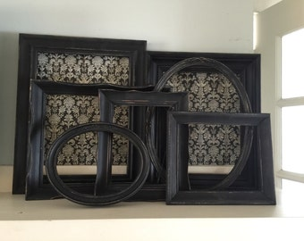 Black Distressed Shabby Picture Frames, The Stroke of Midnight, Collection 2
