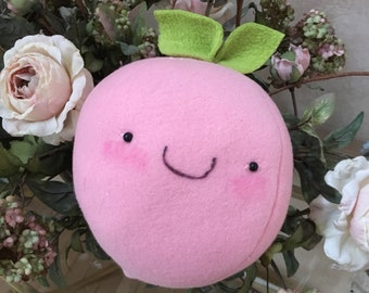 GIANT peach plush- 9 inches