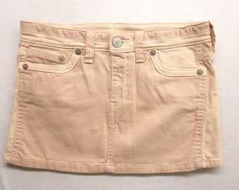 "Upcycled Levi's Womens Dark Light Pink Colorblock Denim Jean Mini Skirt Size 27"""
