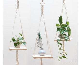 Macrame Plant Hanger / Macrame shelf hanging / Plant Holder / Hanging Planter / Macrame Plant Holder / Pot Hanger