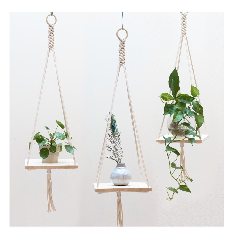 Macrame Plant Hanger Macrame Shelf Hanging Plant Holder