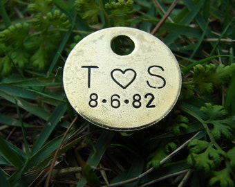 Hand-Stamped Brass Tags-Personalize your wedding favors with this unique keepsake