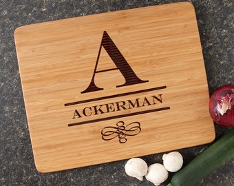Personalized Cutting Board, Engraved Cutting Board, Bamboo Cutting Boards, Personalized Wedding Gift, Housewarming Gift-15 x 12 D12