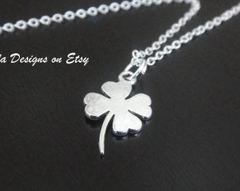 Four Leaf Clover Shamrock Necklace