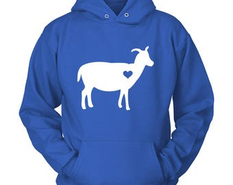 Goat Hoodie / Goat Gift / Goat Lovers Gift / Gift for Goat Lover  / Barn Birthday Party / Goat Sweater / Goat Clothing / Farm Hoodie