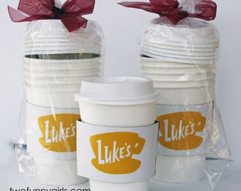 Luke's Diner from Gilmore Girls/Stars Hollow Paper Coffee Cups   {5 pack sleeve)