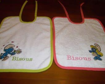 BIB embroidered set of 2 bibs