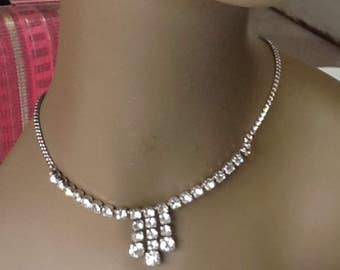 Kramer rhinestone necklace