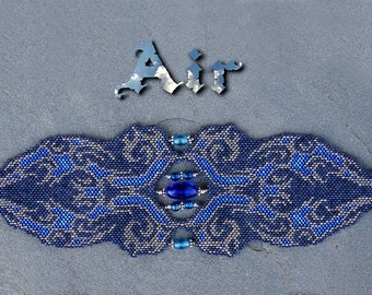Pattern for Elemental Air Peyote Bracelet