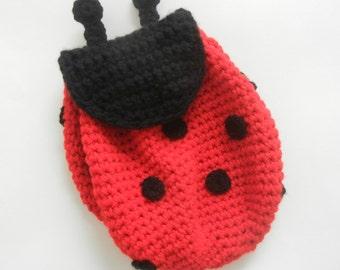 Ladybug Backpack for Toddler or Kids
