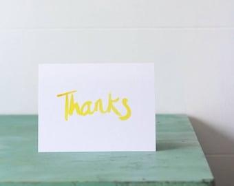 Thanks greeting card- 4 x 6