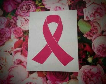 Breast Cancer Pink Ribbon Awareness Ribbon