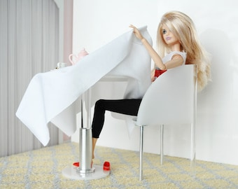 Bistro table for fashion dolls like Barbie, Blythe, Integrity, Monster High and others