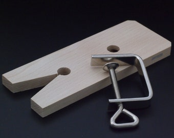 Hardwood Bench Pin - V Slot Style with C Clamp - 100% Guarantee