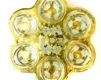 Passover Seder plate-Oliv
