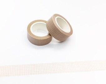 Vintage Grid Paper Washi Tape - Planner/Journal/Travel Notes Series