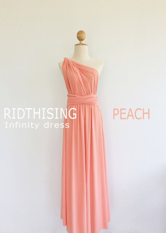 Peach Infinity Bridesmaid Dress