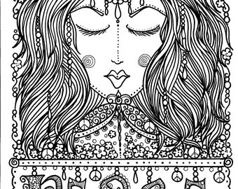 Instant Download Peace Art for you to Color