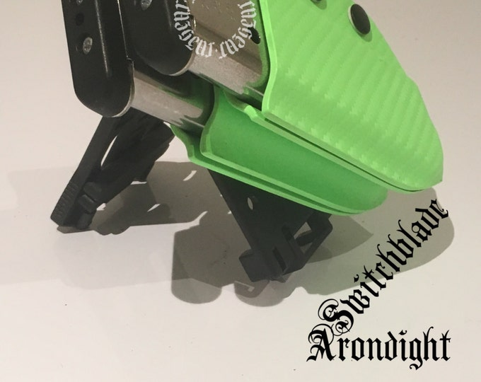 Double Arondight Switchblades for 1911 / .40 / 9mm Single Stack Horizontal or Vertical Mag Carrier in Zombie Green