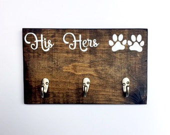 Dog Leash Holder / Wooden Plaque   Personalized Leash Holder, Custom Leash Holder, Hook for Dog Leash, Dog Leash Hook, Dog Lover, Dog Mom