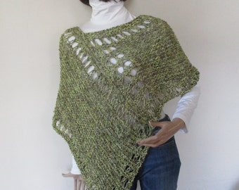 KNITTED PONCHO -SWEATER