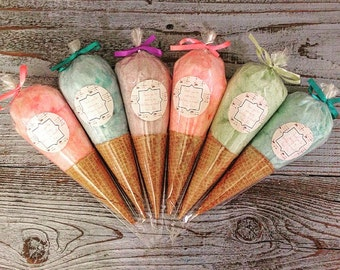 Cotton Candy Ice Cream Cones (12) One Dozen
