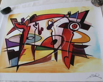 Afternoon Jam Session Seriolithograph by Alfred Gockel 2013