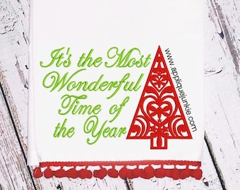 It's the Most Wonderful Time of the Year Embroidery Design